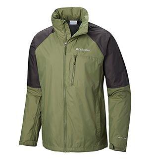 Mens Watertight Trek Jacket in green and black