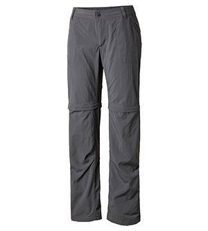 Womens Silver Ridge 2.0 Convertible Pant in gray