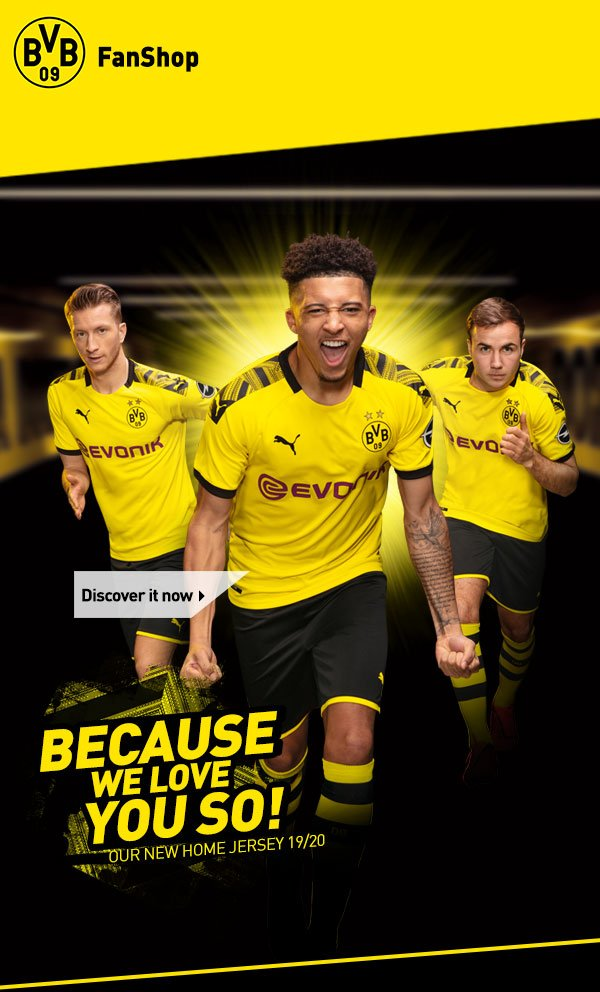 Bvb Borussia Dortmund Because We Love You So Our New Home Jersey 19 20 Milled