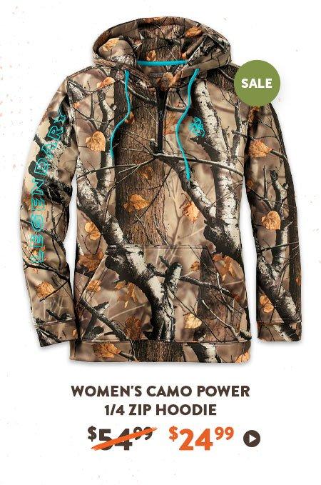 Women's Camo Power 1/4 Zip Hoodie
