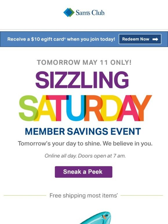 Sam S Club Is Your Alarm Set Sizzling Saturday Is