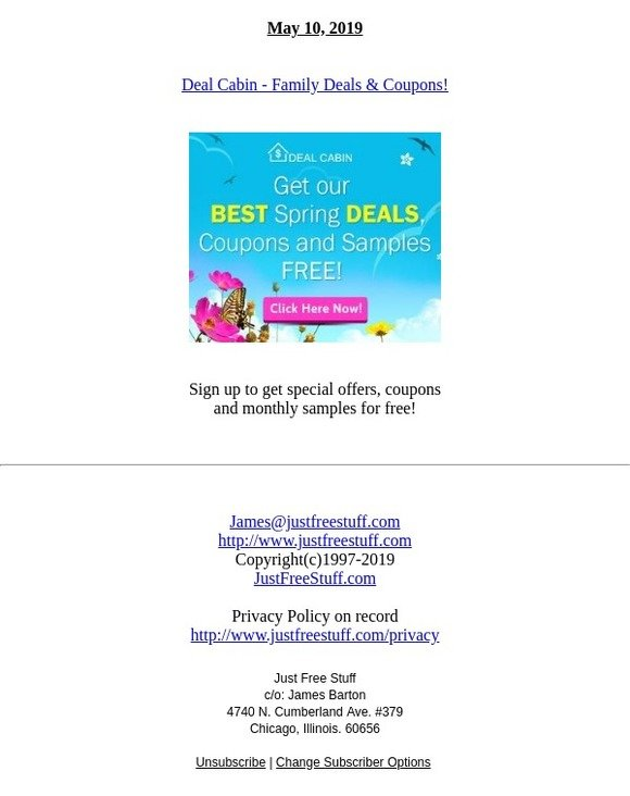 Just Free Stuff: Deal Cabin - Family Deals & Coupons!   Milled