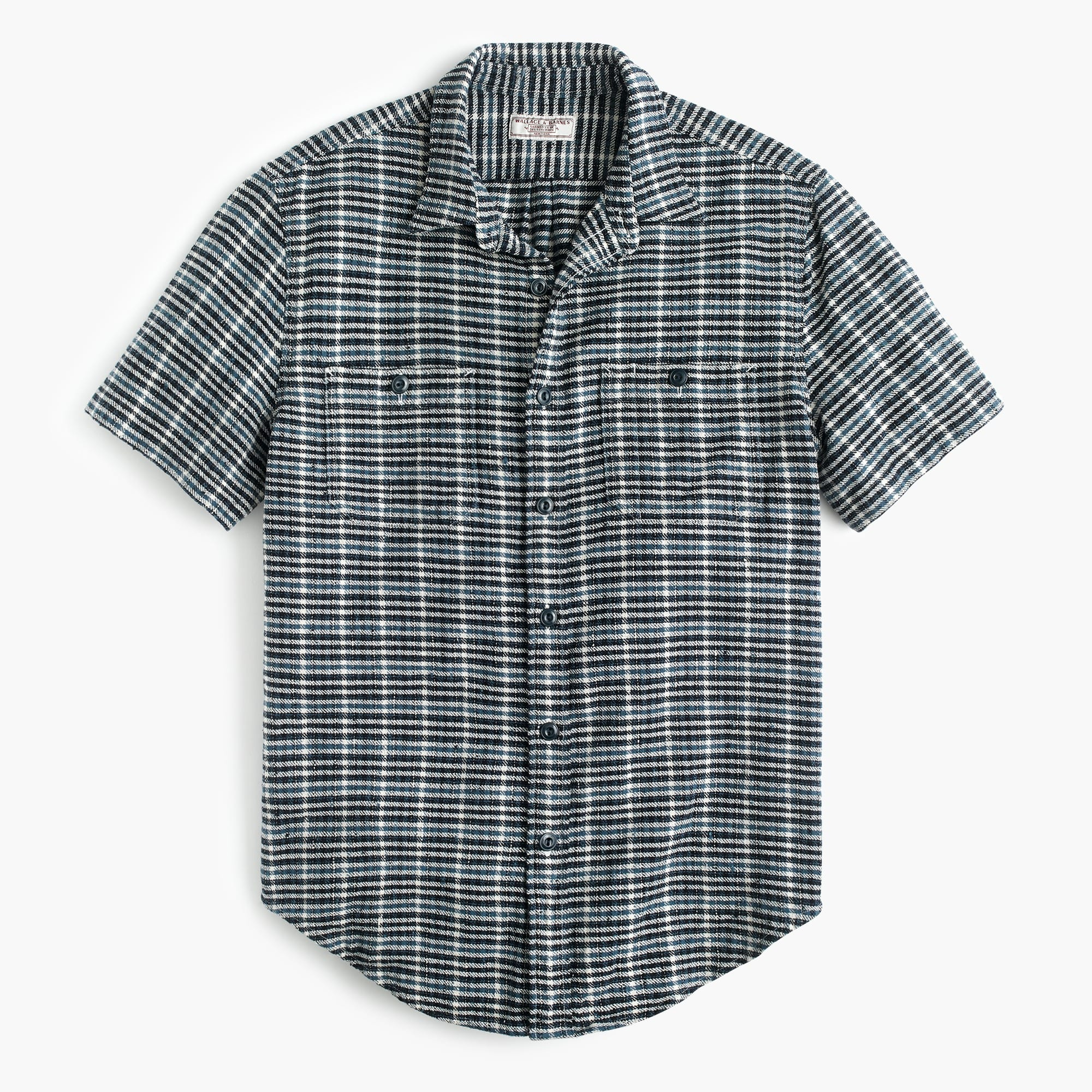 Wallace & Barnes short-sleeve slubby twill workshirt