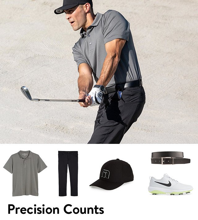 Precision counts: men's golf gear from Mizzen and Main, Nike and more.