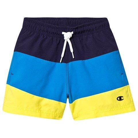 Champion Blue Colourblock Branded Swim Shorts