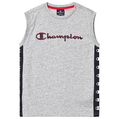 Champion Grey Branded Panel Sleeveless Top