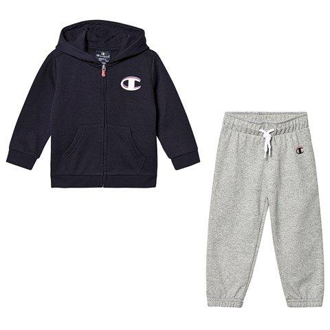 Champion Navy And Grey Infants Full Zip Hoodie & Sweatpants