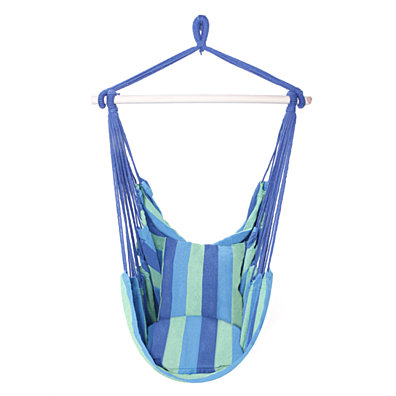 Hanging Rope Hammock Chair Swing Seat   3 colors - Blue