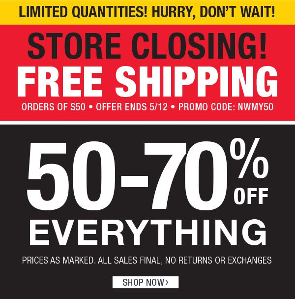 Find a new look NOW & get FREE SHIPPING on $50 orders — Ends TONIGHT!