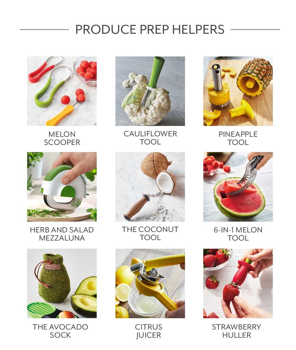 Fruit & Veggie Tools