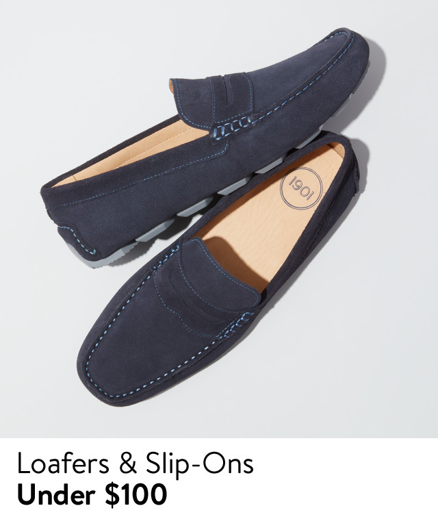 Men's loafers and slip-ons under $100, from 1901 and more.