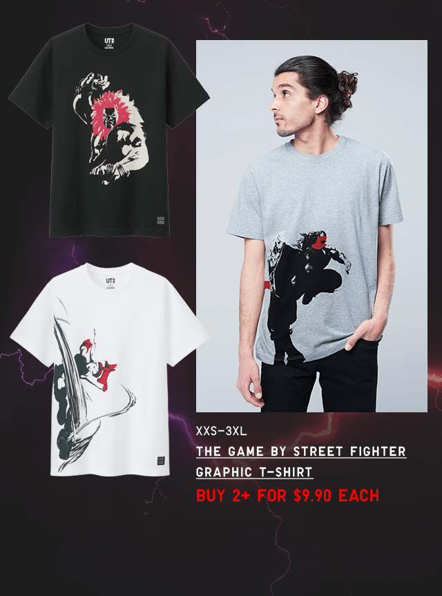 BODY4 - MEN THE GAME BY STREET FIGHTER GRAPHIC T-SHIRT