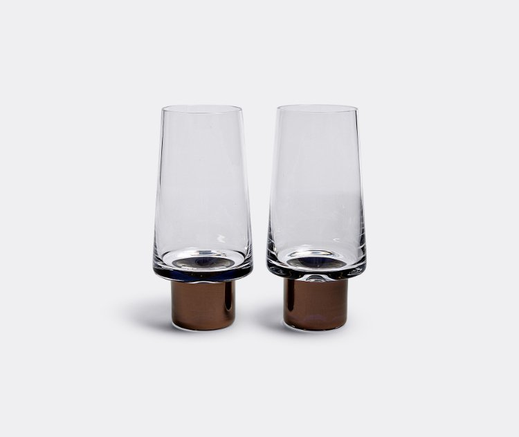 'Tank' highball glasses, set of two