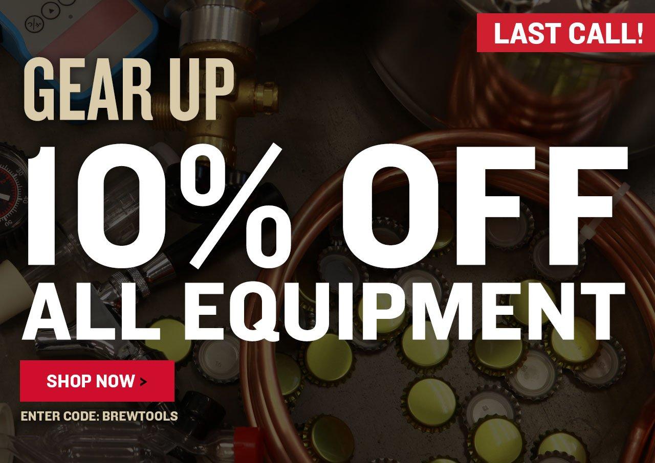 10% Off ALL Equipment. Use code BREWTOOLS