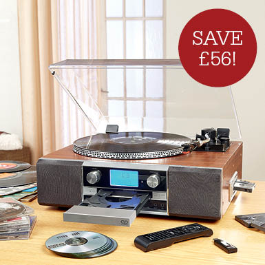 Neostar Turntable, Tape, CD player & CD/MP3 Recorder