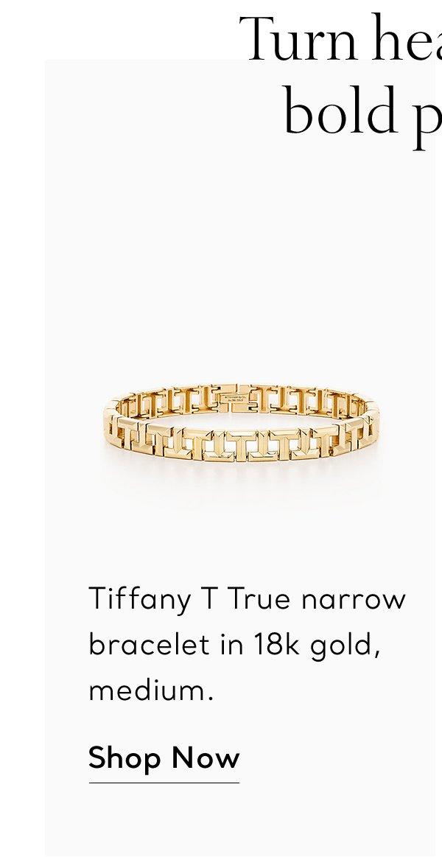 Shop Now: Gold T True Narrow Bracelet