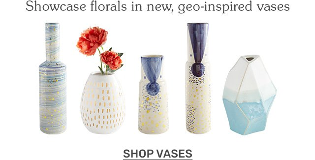 Showcase florals in a new, artistic way! Shop vases.