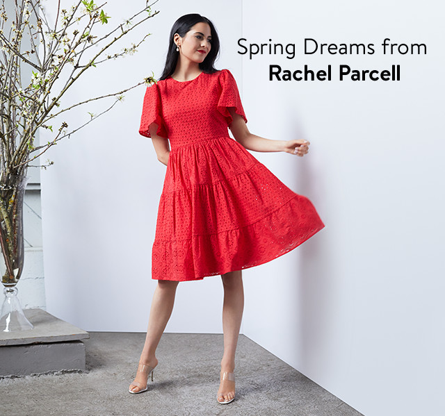 Spring dresses and accessories from Rachel Parcell.