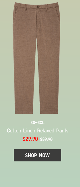 BODY9 - MEN COTTON LINEN RELAXED PANTS
