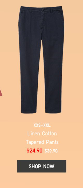 BODY6 - WOMEN LINEN COTTON TAPERED PANTS