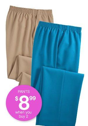 Shop Women's No Iron Poplin Pants!