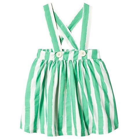 Noe & Zoe Berlin Green Stripes Dungaree Skirt