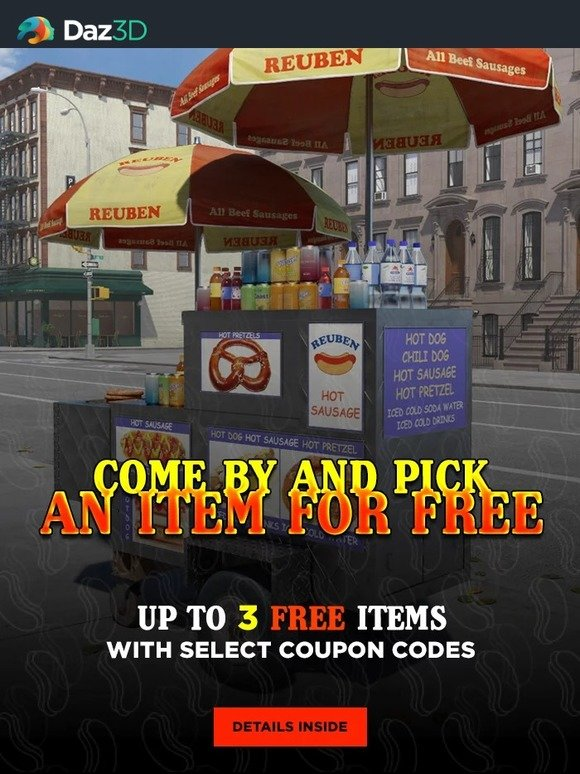DAZ 3D: Come by and pick an item for free | Milled