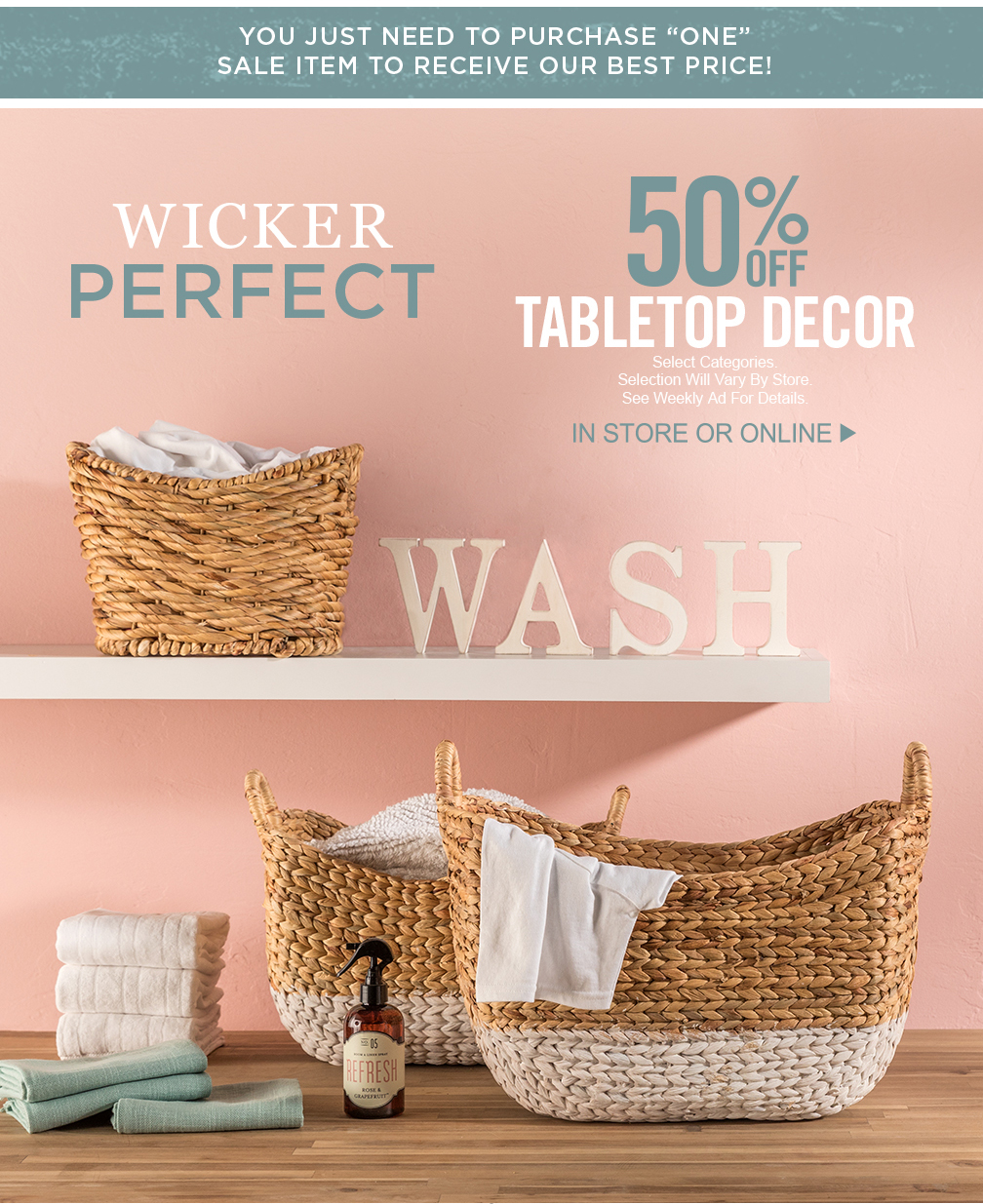 Hobby Lobby Wicker Accents In The Laundry Room Milled