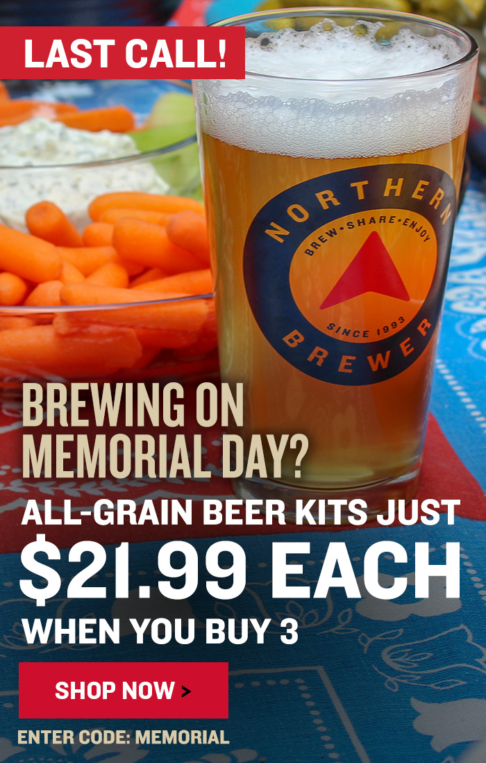 Beer Kits For $21.99 Each When You Select 3. Use code MEMORIAL