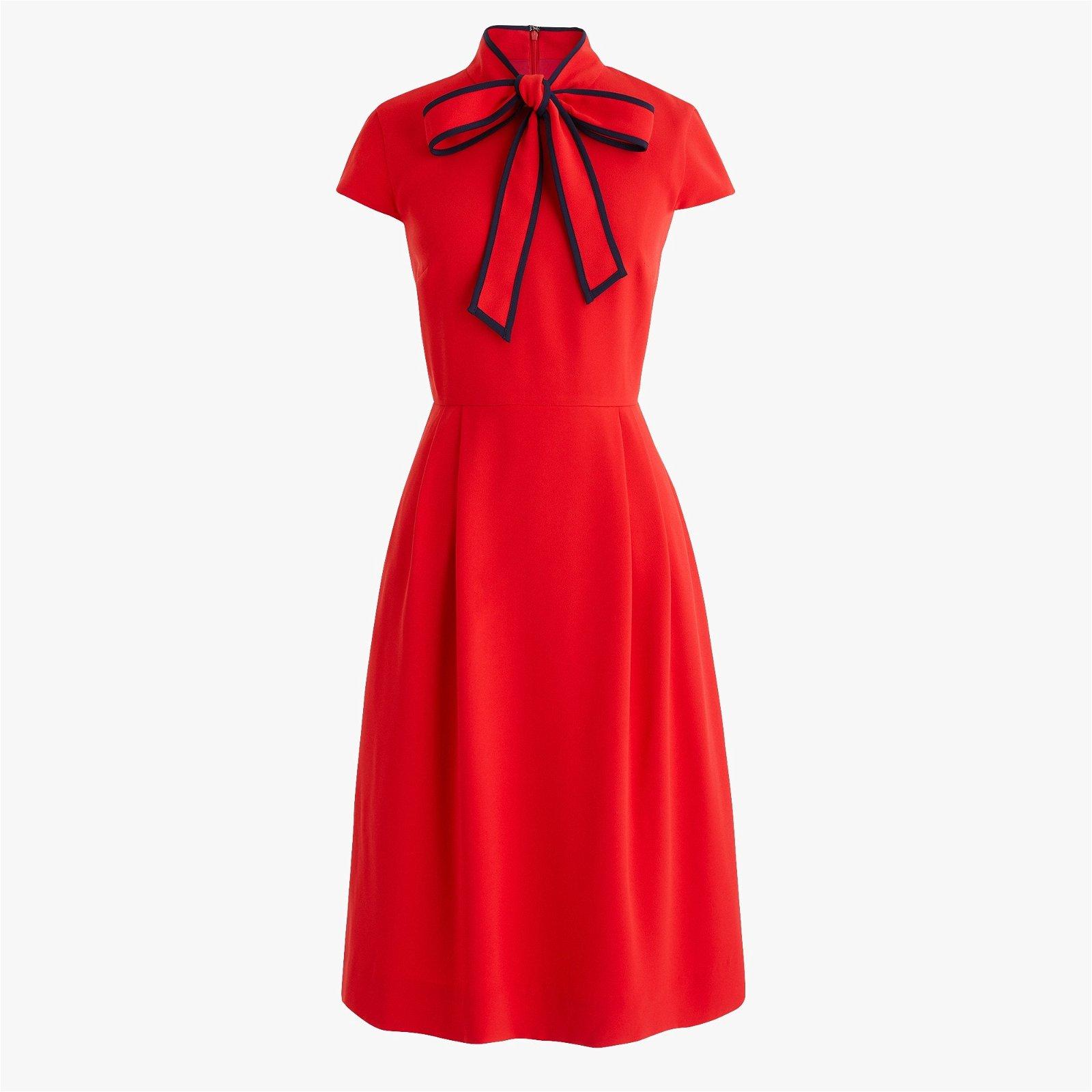 Classic Tie-neck dress in 365 crepe