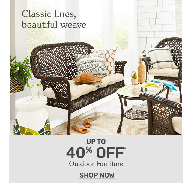 Save up to forty dollars on outdoor furniture.