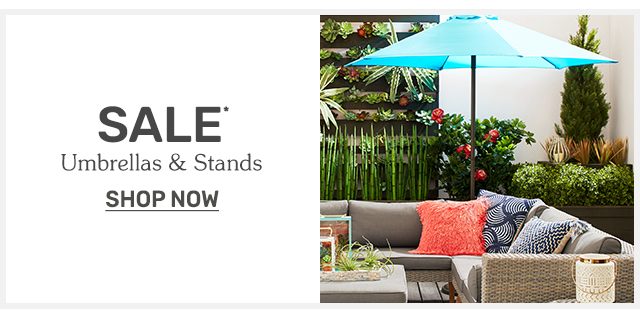 Shop umbrellas and stands on sale now