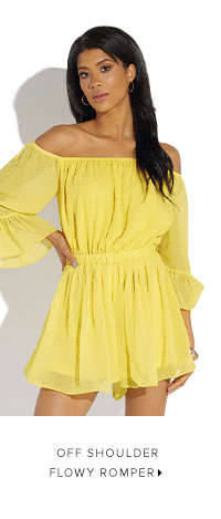 OFF SHOULDER FLOWY ROMPER