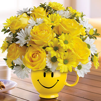Teleflora's Be Happy Bouquet with Roses