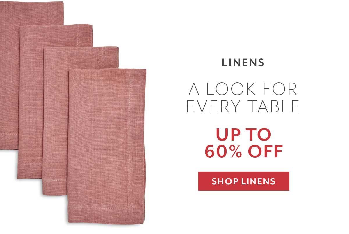 Warehouse Sale Linens