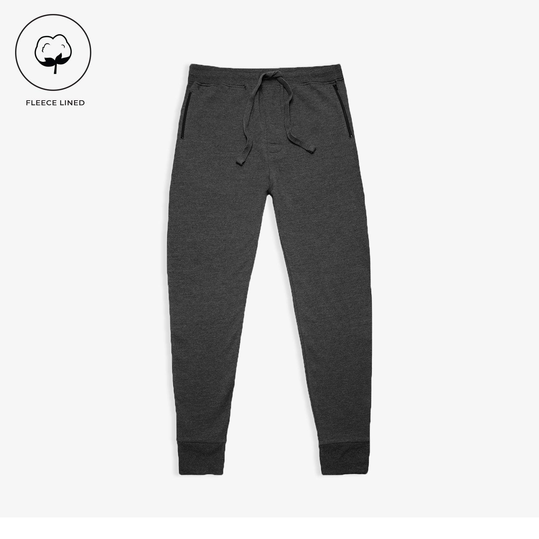 Charcoal Fleece Zip Joggers