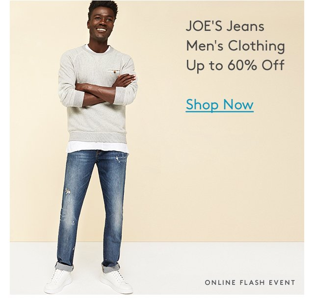 JOE'S Jeans Men's Clothing Up to 60% Off | Shop Now | Online Flash Event