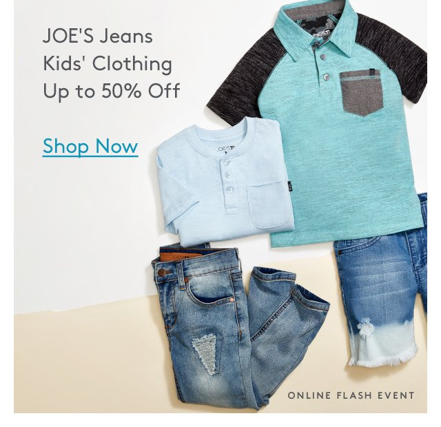 JOE'S Jeans Kids' Clothing Up to 50% Off | Shop Now | Online Flash Event