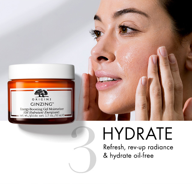 3 HYDRATE Refresh rev up radiance and hydrate oil free
