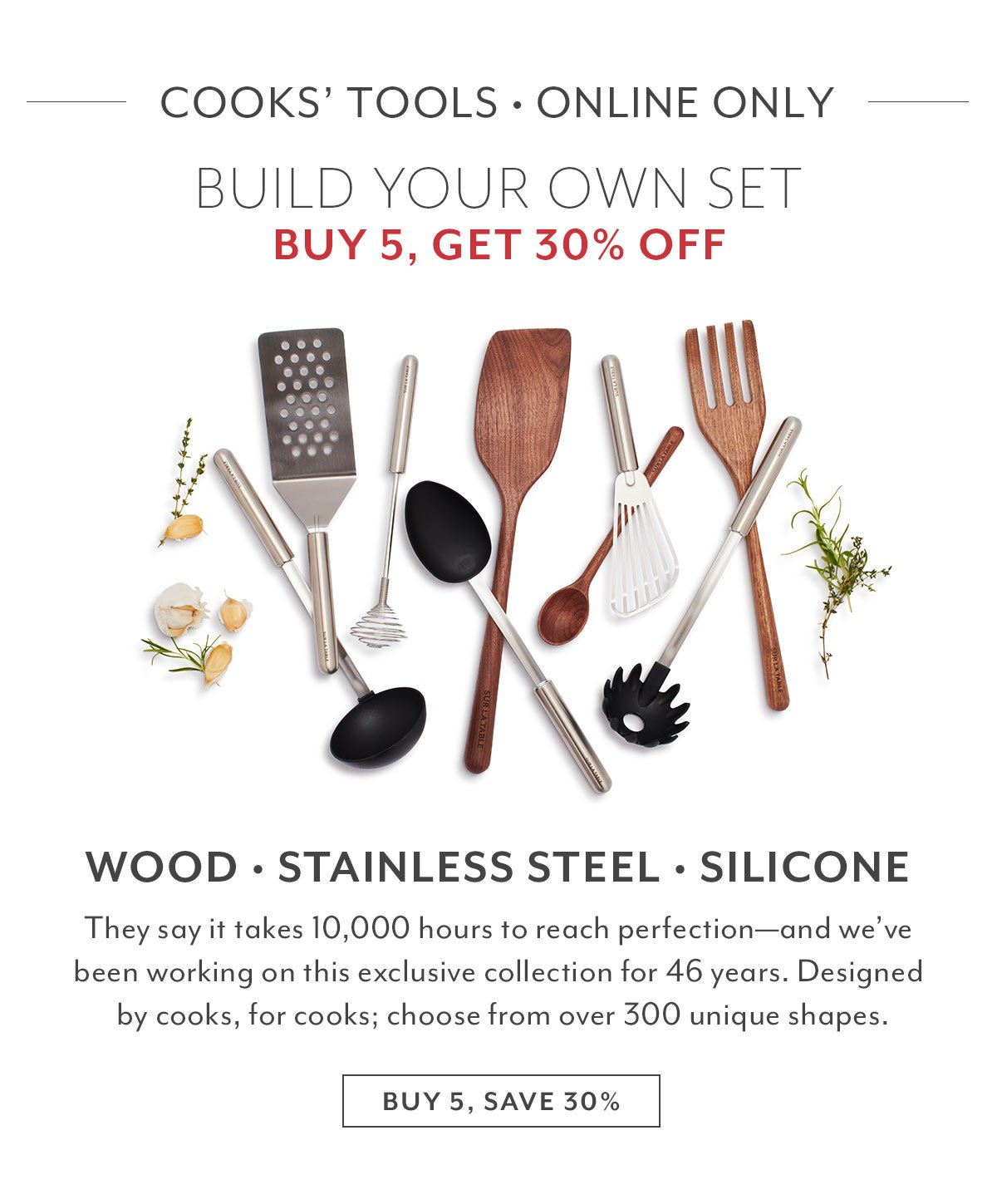 Cooks' Tools • Buy 5, Get 30% Off