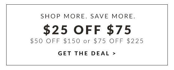 Get $25 off $75