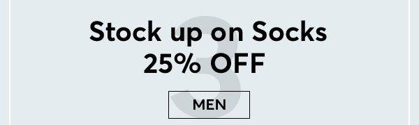 Shop 25% Off Men's Socks - Turn on your images