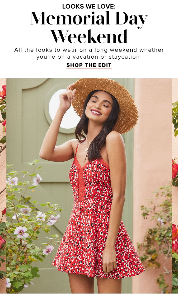 7fb3af989d Looks We Love  Memorial Day Weekend. All the looks to wear on a long