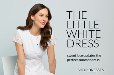 The Little White Dress - Sweet lace updated the perfect summer dress - Shop Dresses