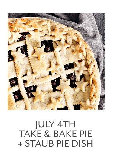 Class: July 4th Take & Bake Pie + Staub Pie Dish