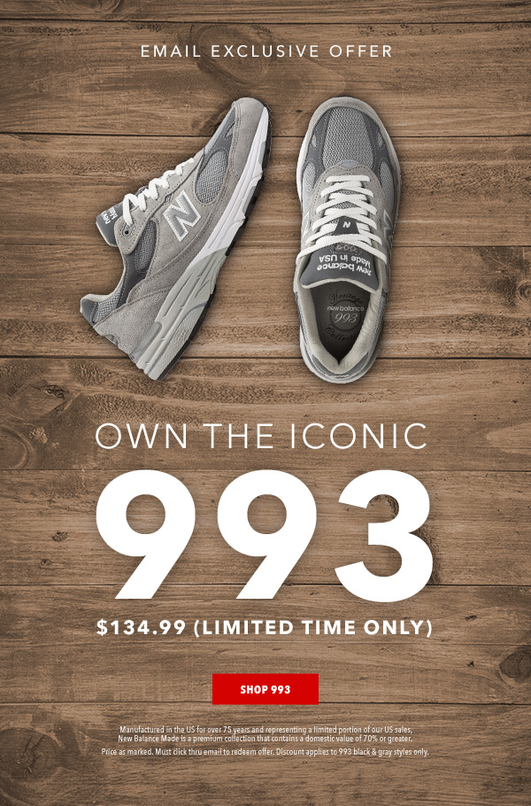 best website 1ad84 15ff8 Joe's New Balance Outlet: 993 Memorial Day Weekend Exclusive ...