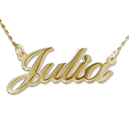 585er Gold (14k) Namenskette in Druckschrift- Klassik