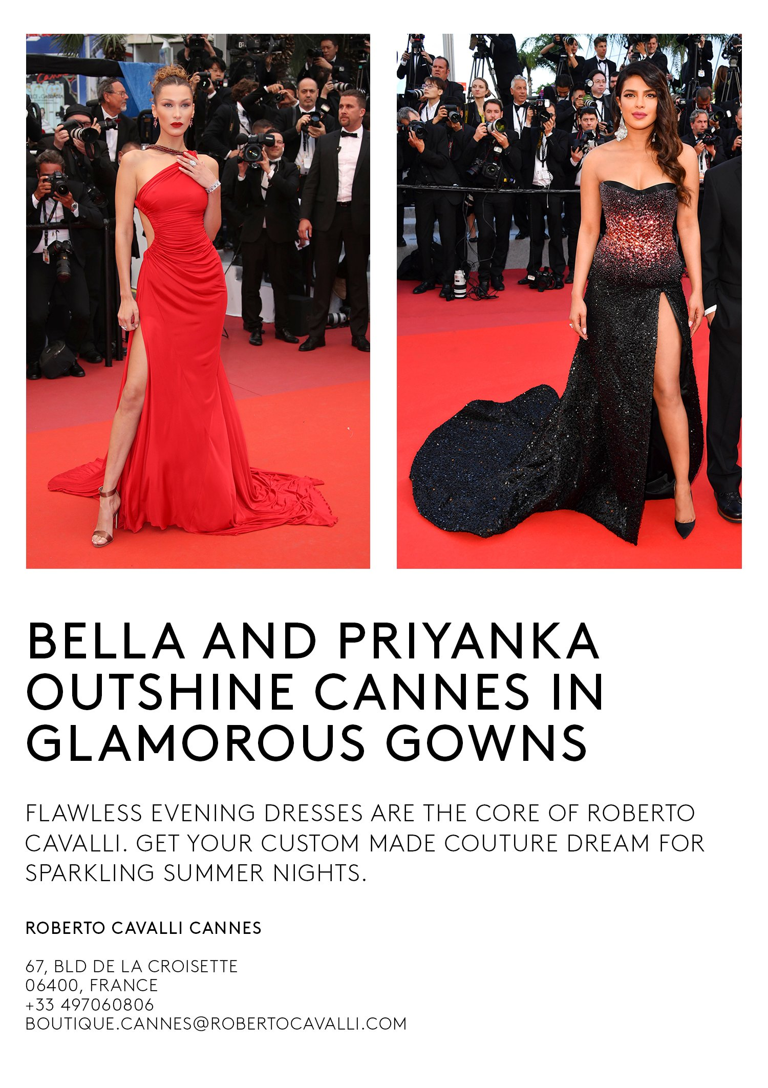wholesale dealer a2d05 556d2 Roberto Cavalli: Red Carpet Stars at Cannes | Milled