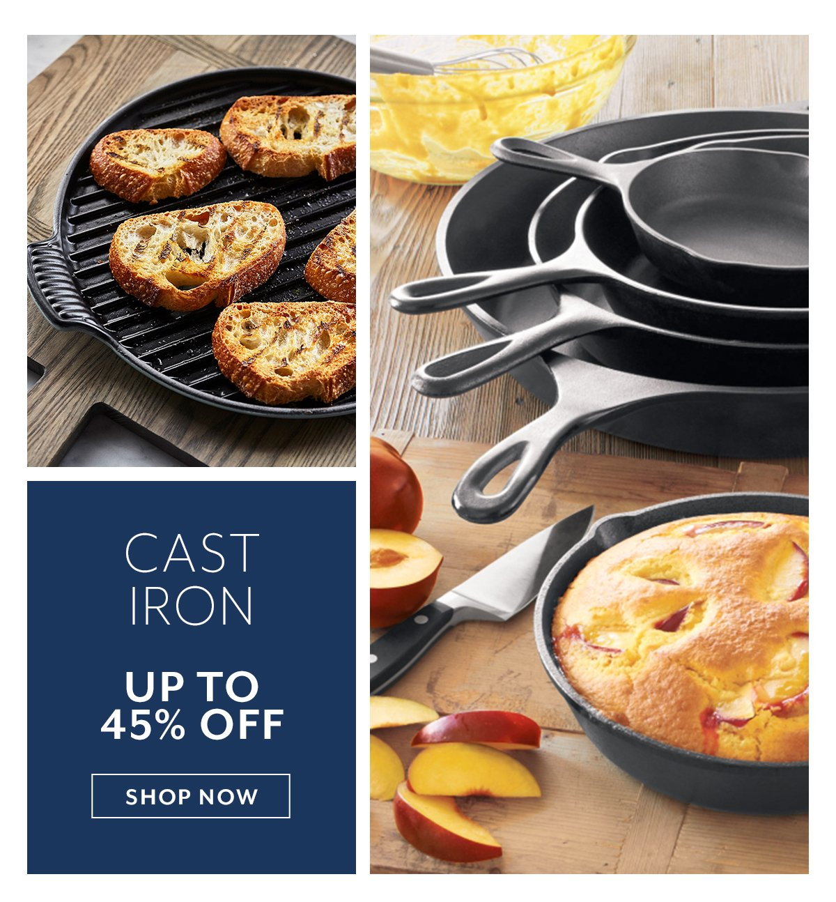 Cast Iron up to 45% off