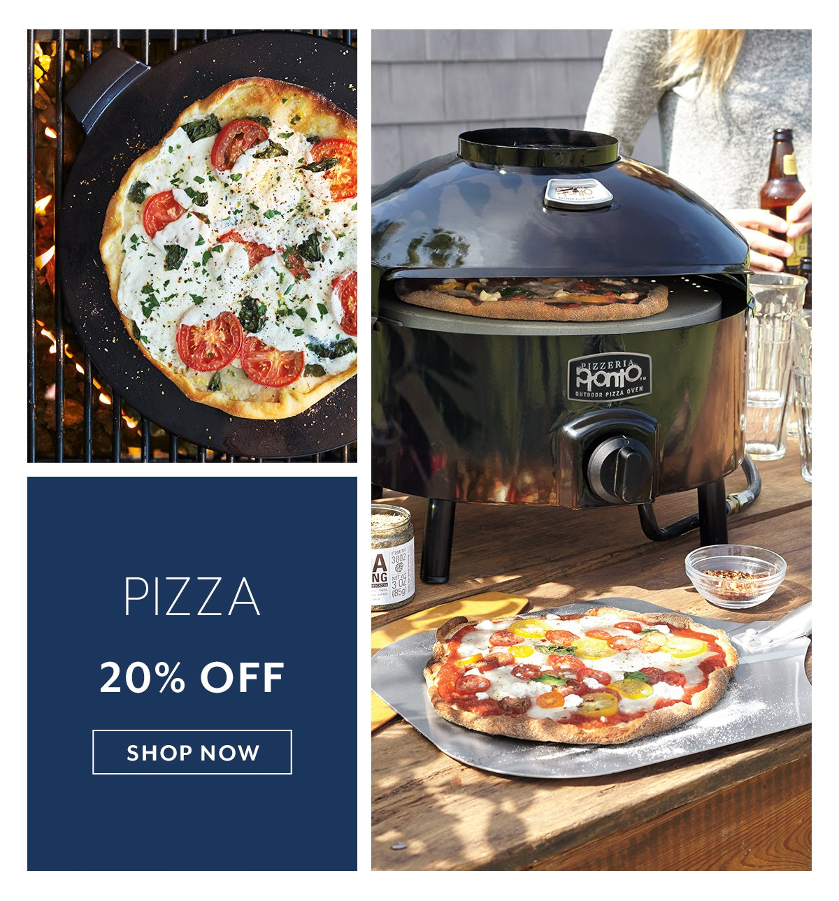Pizza up to 20% off